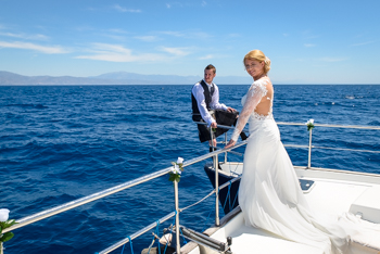 wedding ceremony at sea